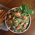 Asparagus and Farro Salad with Salmon