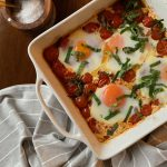 Roasted Tomatoes with Baked Eggs