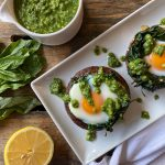 Spinach & Egg Stuffed Mushrooms