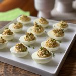Crab Claw Deviled Eggs