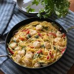 Creamy Shrimp & Spinach Pasta