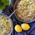 Pacific Razor Clams with Spaghetti