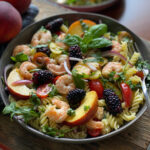Peach & Shrimp Pasta Salad