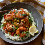 Cajun Shrimp & Cauliflower 'Grits'