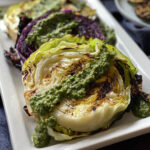 Grilled Cabbage with Arugula Pesto